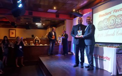 Receiving an international book award in Miami